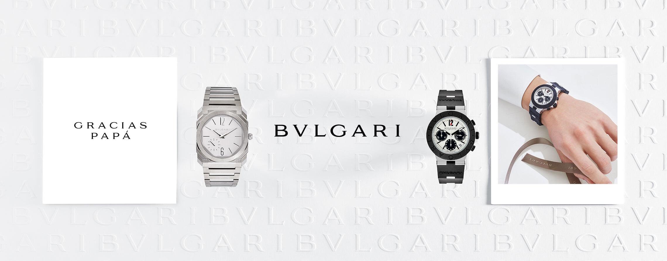 Un reloj Bulgari dorado